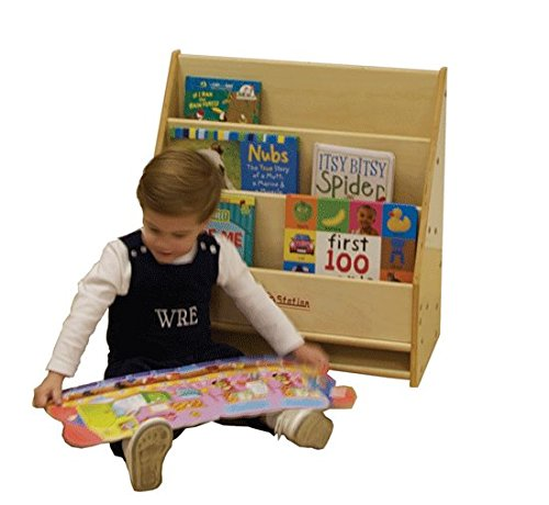 Kids' Station Toddler Daycare Book Display, Assembled, Fully Assembled