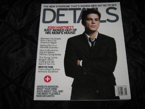Details Magazine (Josh Hartnett , marilyn Manson , Anthony Swofford , Sin City, June/July 2003)