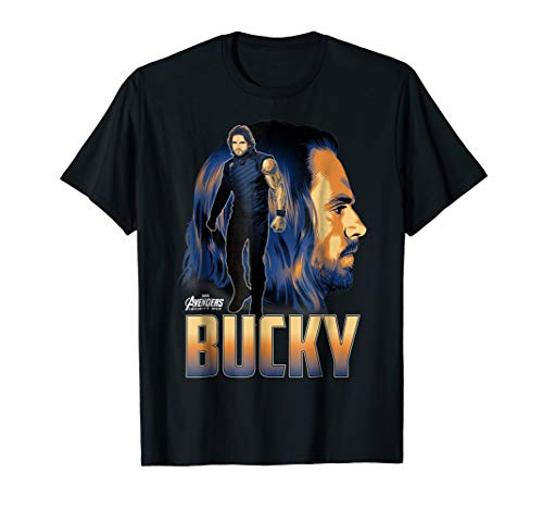 Marvel Infinity War Bucky Big Head Profile Graphic T-Shirt]()
