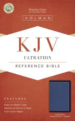 Read Online KJV Ultrathin Reference Bible, Cobalt Blue LeatherTouch, Indexed ebook
