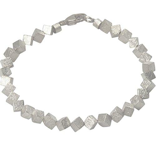 skielka designschmuck Bracelet en argent 925mat glacé 4mm () Dés Bracelet-orfèvre travail haute qualité