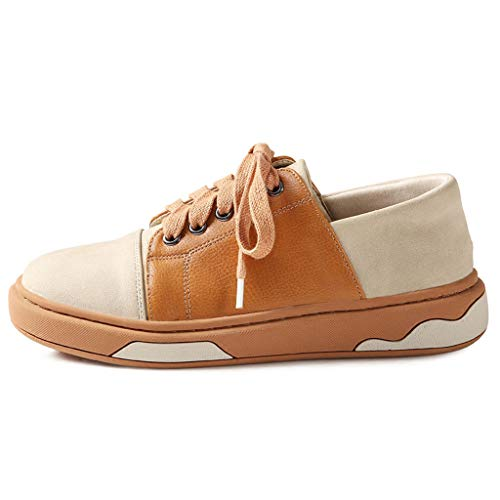 PU Fashion 's Sweet Chaussures Flat Respirant Chaussures Brown Printemps en Cuir Lace Up Women New Casual Sneakers CwqPnvREXv