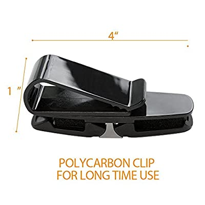RT CARE Sunglasses Holder for Car Visor Wire Frame Sunglasses Holder Car Double Sunglasses/Glasses Holder for Car Sun Visor-Conveniently Holds 2 Pairs of Sunglasses and Tickets Color Silver Gray: Automotive