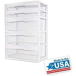 5 Drawer Wide Tower
