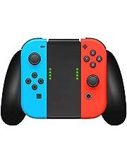 Nintendo Switch Controller Joycon Comfort Grip by TalkWorks   Switch Game Accessories Handheld Joystick Remote Control Holder Joy Con Kit, Black