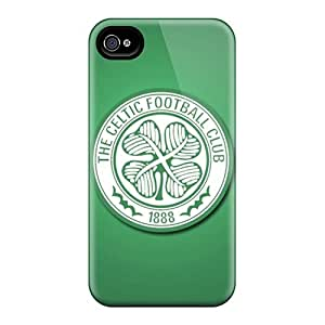 Scratch Resistant Hard Cell-phone Case For Iphone 4/4s With Allow Personal Design Nice Celtic Fc Glasgow Skin JasonPelletier