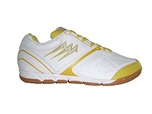 AGLA - Zapatillas de fútbol sala de Material Sintético para hombre Media blanco