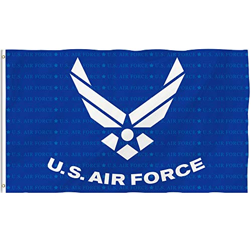 Air Force Outdoor Flag - Bonsai Tree Us Air Force Flag 3x5 Ft Double Sided and Double Stitched Us Army Military Flags with Brass Grommets American Patriotic Garden House Outdoor Banners