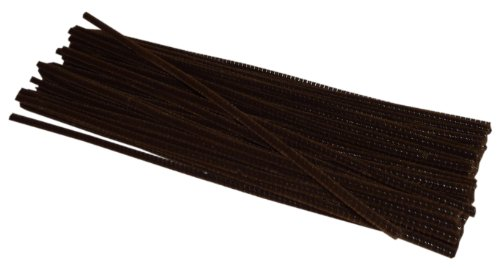 Chenille Stems Brown inches pieces