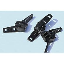 Zipper Resucue Slider ~ YKK #10 Plastic Double Head Reversible Slider ~ Black (3 Sliders / Pack)