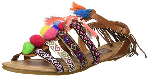 Refresh 063360, Sandalias con Punta Abierta para Mujer Hueso (Camel)