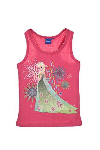Disney Frozen Ann Elsa Pricess Girls Sleeve Less T Shirt Tank Top 100% Cotton (Pink, 5 Years) -
