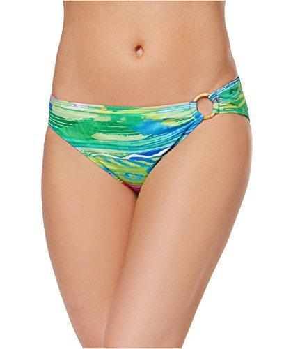 Lauren Ralph Lauren Women's Ikat Stripe Ring Hipster Bottom Coral/Multi Swimsuit ()