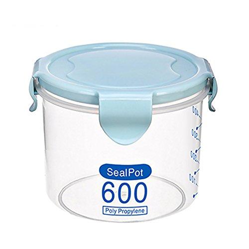 Sealed Crisper (Food Storage Box, WEKA Kitchen Food Meat Container Plastic Lidded Sealed Crisper Boxes For Refrigerator(Blue, S))