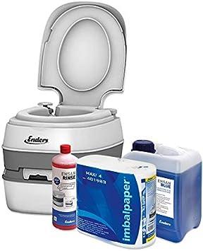 Enders Inodoro portátil para Camping, Juego Blue 2,5 Comfort [4945]: WC químico con líquido sanitorio y Papel del wáter