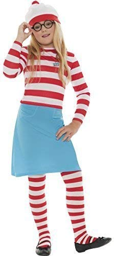 (Family Mens Ladies Boys Girls Child's Where's Wally Waldo Wenda Book Day Couples Halloween Party Fancy Dress Costumes Outfits (4-6 Years,)