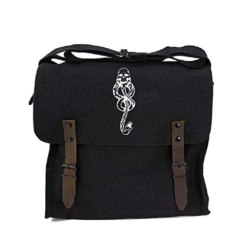 Harry Potter Death Eaters Dark Mark Heavyweight Canvas Medic Shoulder Bag, Black ()