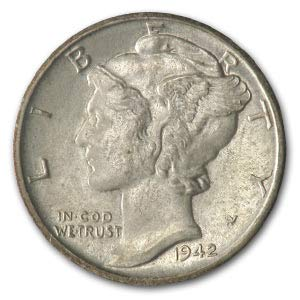Best buy 1942 S Mercury Dime AU Dime About Uncirculated