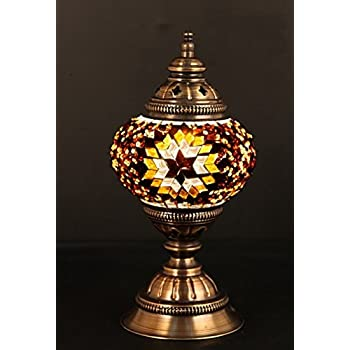 Turkish Lamp, Mosaic Lamp, Table Lamp, Mosaic Lamps, Moroccan Lanterns,  Turkish