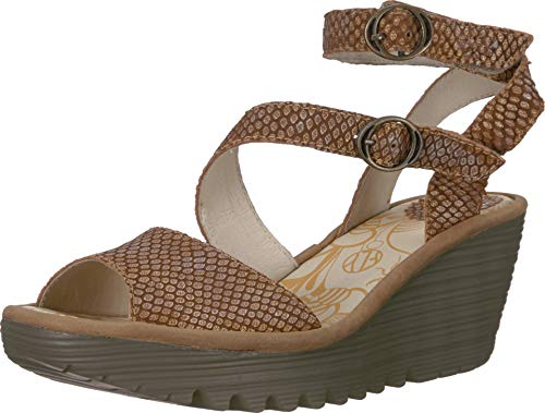 FLY London Women's YISK837FLY Tan/Camel Palm/Rug 39 M - Fly Tan