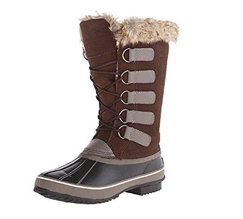 Northside Women's Kathmandu Waterproof Snow Boot (38 M EU / 7 B(M) US, Dark Brown/Stone)