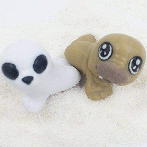 FUNSHOWCASE ジオラマ キット おもちゃ アシカ 2個セット 白 褐色 手作り ミニチュア インテリア ドールハウスキット ハンドメイド フィギュア