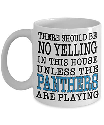 Panthers Fan Game Day Coffee Mug | If You're From Carolina and Love Your Football Team This Large 15oz or Smaller 11oz Ceramic Cup Is For You