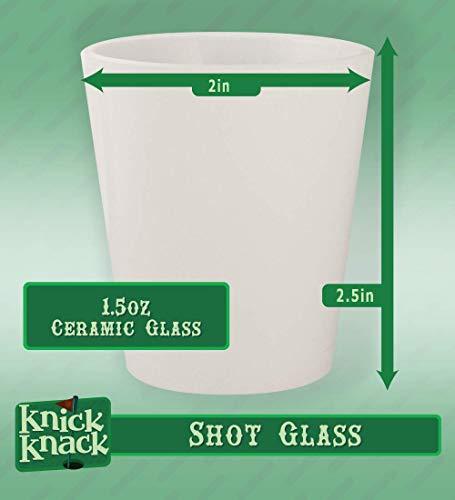 Custom Printed 1.5oz Ceramic White Shot Glass CP07 - Add Your Custom Text - Graphic Mug |