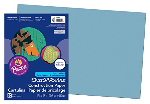 SunWorks Construction Paper, Sky Blue,  12
