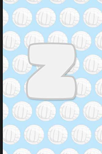 Z: Vollyball Monogram Initial Letter Z Notebook | 6
