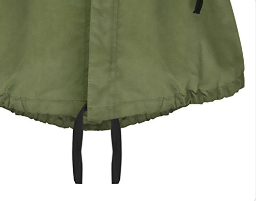 Taglie Giacca Cappotto Giovane Elegante Parka Zip Ragazze Lunga Giubbotto Verde Saoye Cappotti Manica Sciolto Autunno Fashion Giacche Forti Invernali Partito E Militare Casuale Donna Oversize BwaORxZ