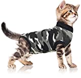 Suitical Recovery Suit Cat, Extra Small, Black Camouflage Larger Image