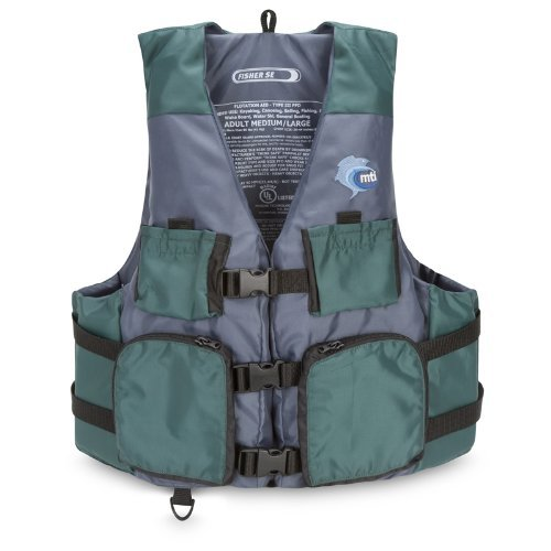 MTI Adventurewear Fisher Kayak Fishing PFD Life Jacket Green/Gray X-Large/XX-Large [並行輸入品] B077QL9MJ8