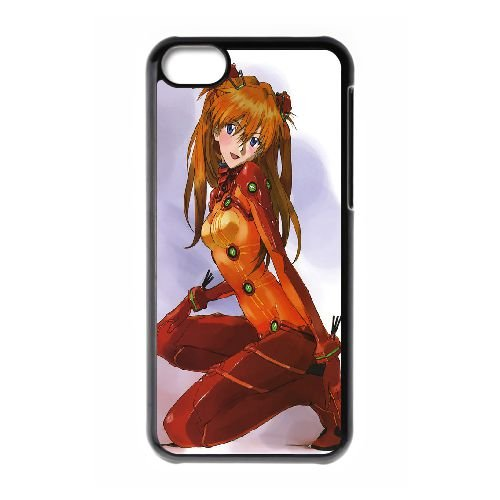 Asuka Langley Soryu coque iPhone 5C Housse téléphone Noir de couverture de cas coque EBDOBCKCO14902