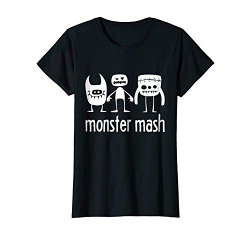 Womens Monster Mash - Cute Halloween Shirt or Costume. Medium Black