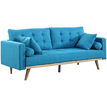 Fine Amazon Com Cheyenne Upholstered Sofa Bed Blue Kitchen Dining Pabps2019 Chair Design Images Pabps2019Com