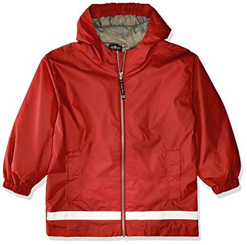 Charles River Apparel Kids' Little New Englander Rain Jacket, red/Reflective 6