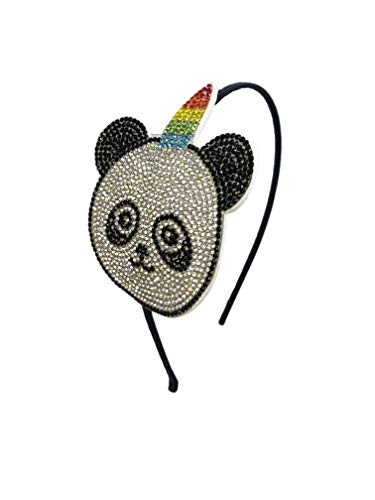 Bari Lynn Swarovski Crystal Unicorn-Panda Headband ()