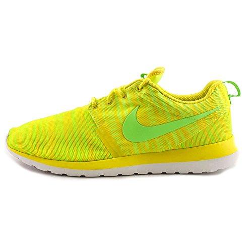 Nike Rosherun Nm Br Mens Scarpe Da Corsa 644425-700 Giallo Cromato - Verde Elettrico - Volt - Bianco