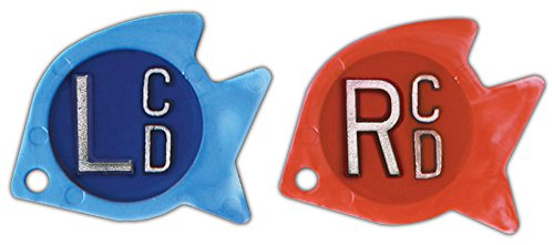 X-Ray Markers, Personal Touch Identifier Style - Tropical Fish, 2 Initials, SET, L&R 5/8'', Shape