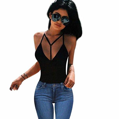 Amanod 2018 discounthotsaleWomen Bra Crop Bustier Bralette Corset Tops Tank Top Blouse T-Shirt