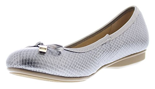 - Gold Toe Malorie Womens Comfortable Memory Foam Ballet Flat Shoe,Work Comfort Dress Flats Low Wedge Pump for Women Silver 6.5M US