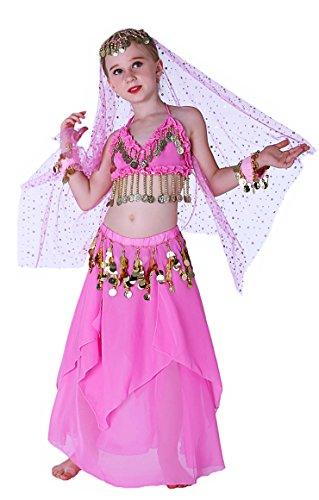 Seawhisper Pink Genie Costume for Girls Halloween Costumes 10 12 ()