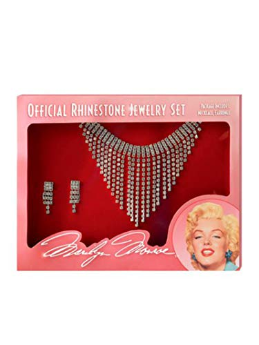 California Costume Women's Marilyn Jewelry Set, Silver, One Size
