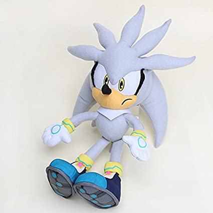 amazon com joudiworld silver sonic the hedgehog 32cm stuffed plush