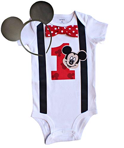 - Perfect Pairz Baby Boys 1st Birthday Outfit Mickey Mouse Bodysuit