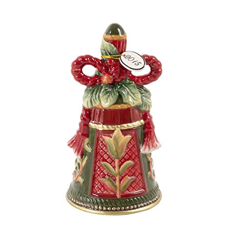 Fitz and Floyd Night Before Christmas Collection Decorative Dated Bell Figurine (Sonoma Williams Box Home)