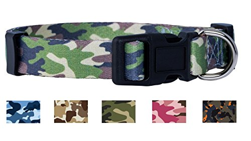 Native Pup Camo Dog Collar (Medium, Green)