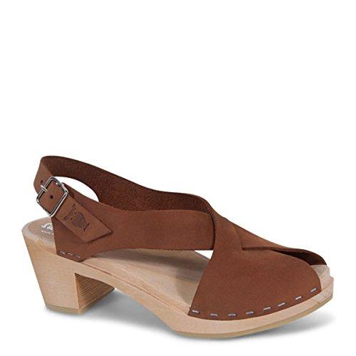 Product image of Sandgrens Swedish High Heel Wood Clog Sandals for Women | Morocco