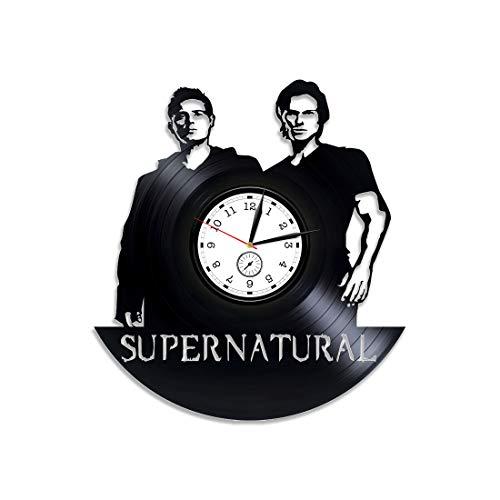 (Kovides Supernatural Vinyl Clock Supernatural Wall Clock Supernatural Season 13 Xmas Gift Vinyl Wall Clock Dean Winchester Vinyl Record Wall Clock Sam Winchester Clock Supernatural 12 inch Clock)